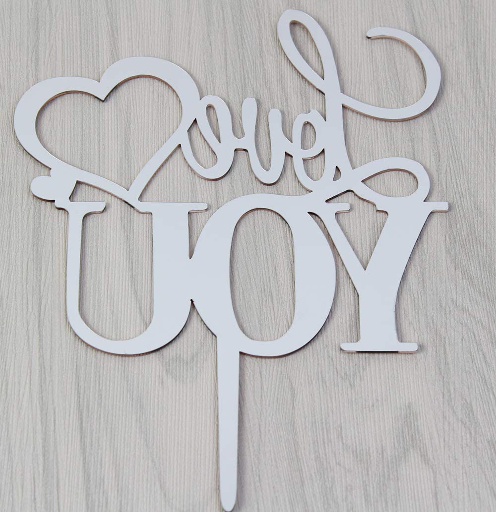 zxyxka Rose Gold Love You Cake Topper Happily Ever After We re Engaged Wedding Anniversary Engagement Bridal Shower Cake Decoration