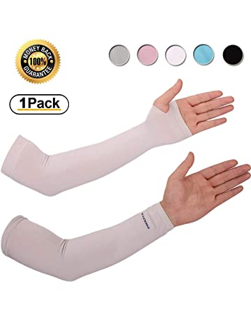 e78d7e4309 Achiou Arm Sun Sleeves UV Protection Cooling for Men Women Sunblock Cooler  Protective Outdoor Sports Running