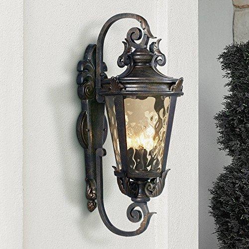- Casa Marseille Outdoor Wall Light Fixture Bronze Scroll 27 1/2