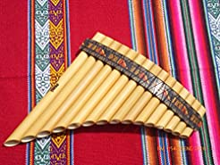 Pan Flute 15 Pipes Tunable Natural Bambo...