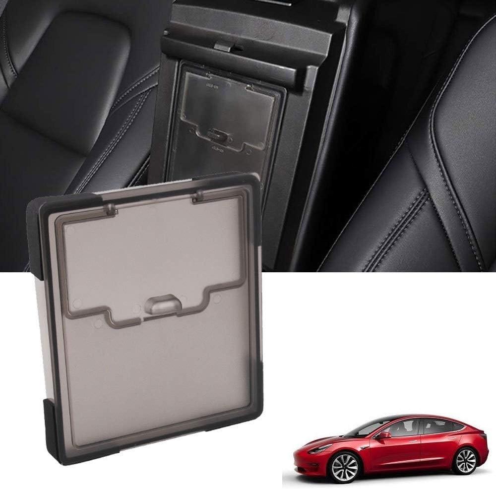 Details about  /For Tesla Model 3 Y Car Privacy Box Armrest Cover Hidden Storage Box