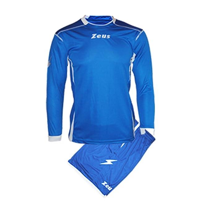 e906658c18fc56 Kit Zeus Sparta Royal-Bianco Completino Completo Calcio Uomo Donna Calcetto  Muta Torneo Scuola Sport (S): Amazon.it: Sport e tempo libero