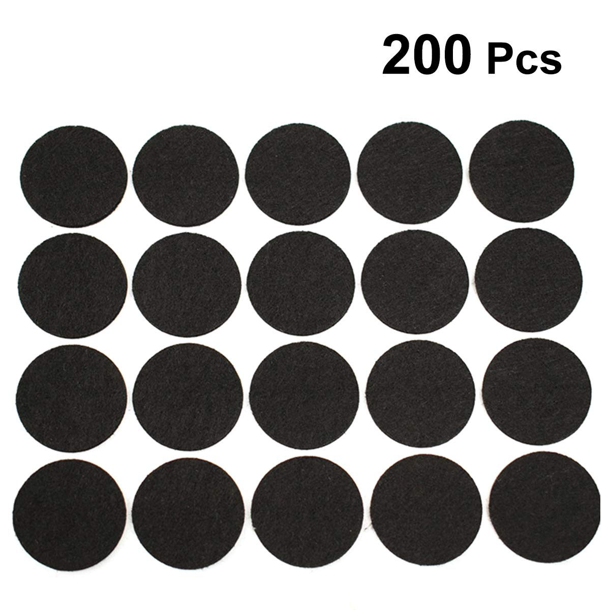 SUPVOX Cuscinetti per mobili Rotondi Felt Pads Protector Pad per Sedia da Tavolo 200pcs 2cm
