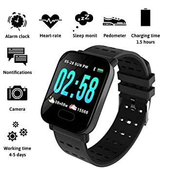 Amazon.com: New Model 2019 Fitness Tracker Smartwatch, Blood ...