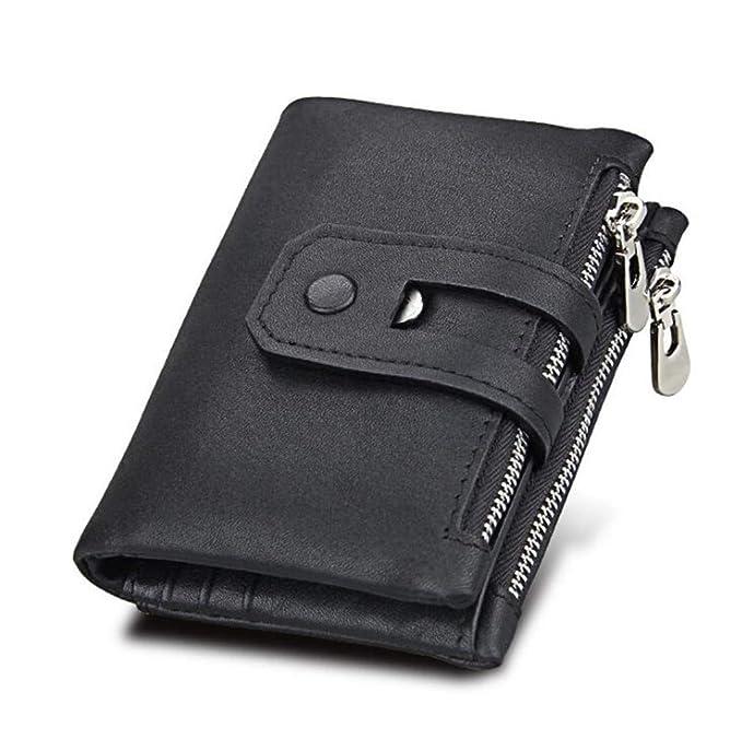 8627f8bb0303 Youngate Men RFID Blocking Wallet Zipper Trifold Money Clip Credit ...