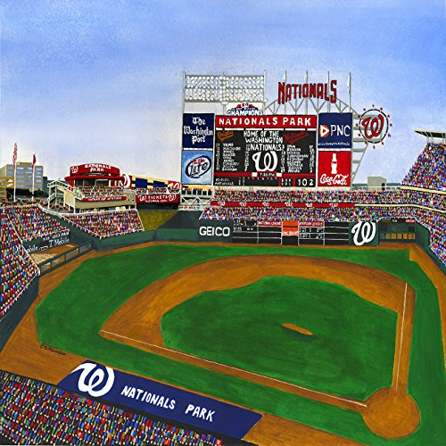 Washington Baseball Square (Ceramic Tile Coaster - Washington Baseball - Nationals Park - Washington DC Sports Teams - Sports Team Stadium Series - Ceramic Tile - Ceramic Coaster - Decorative Art Work)