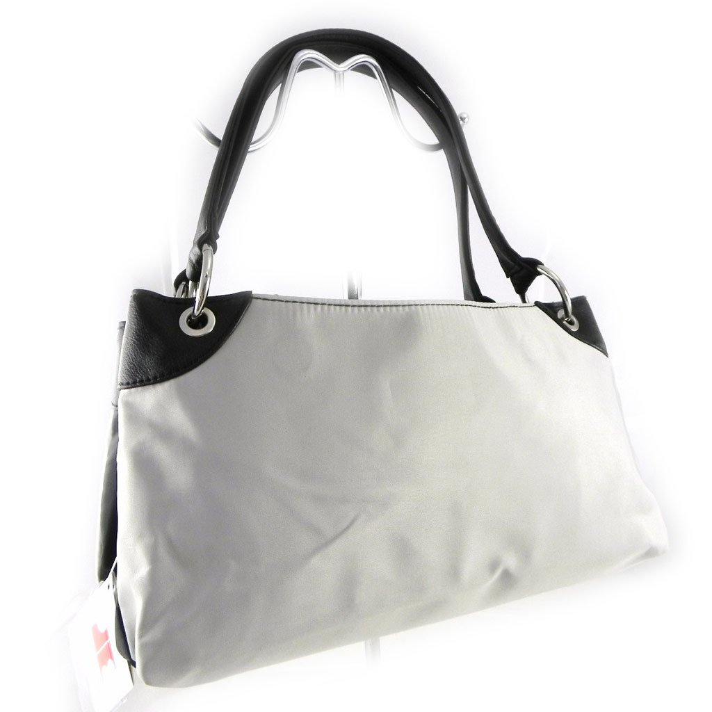 Jacques ESTEREL Reversible Bag Black Silver-Plated Grey.