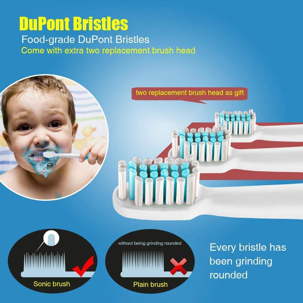 vobome Brosse à Dents électrique pour blanchir Les Dents avec 2 brosses supplémentaires Brosses à Dents électriques