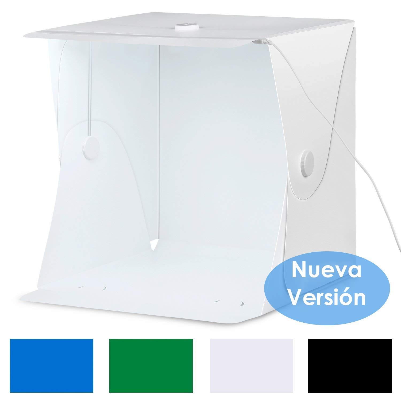 Amzdeal Caja de Luz 40x40cm,Caja de Fotografía Portátil con Soporte...