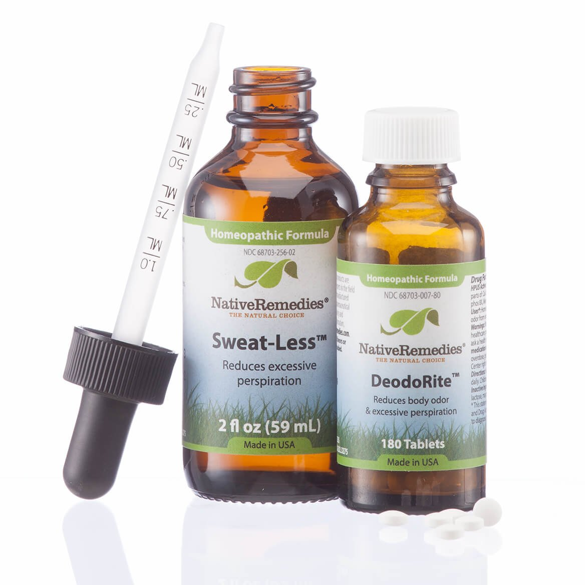 Native Remedies Sweat-Less and DeodoRite ComboPack