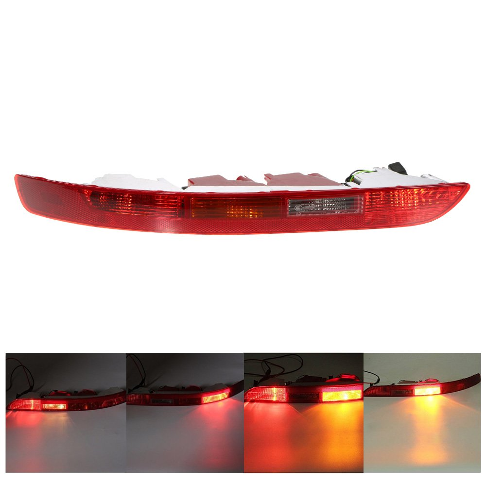 Docooler Rear Right Side Tail Light Lower Bumper Tail Lamp for Audi Q5 2.0T 2009-2015