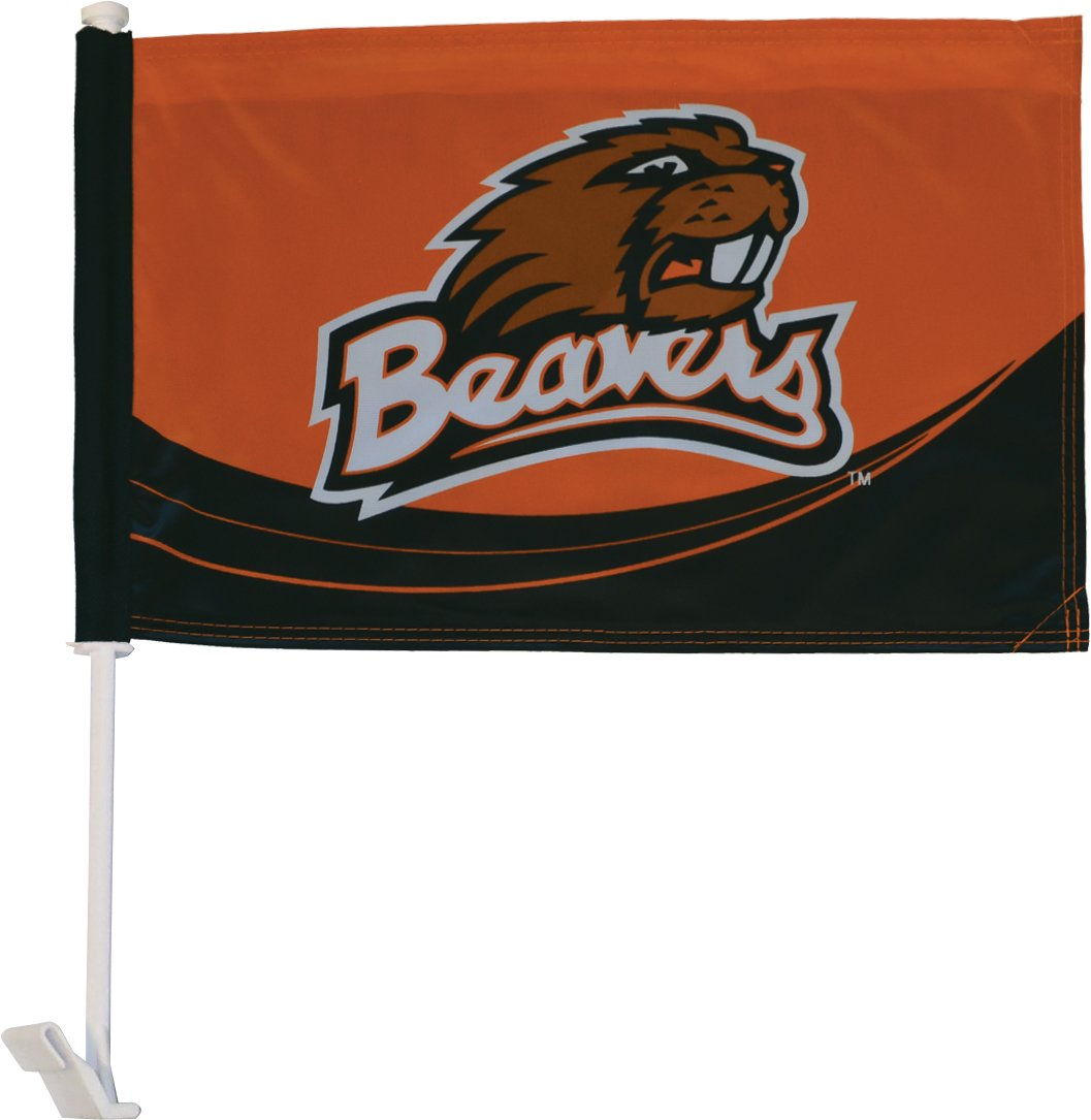 In the Breeze Double Sided Oregon State University Car Flag 4842