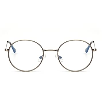 a3d3f0e3a16f Retro Round Computer Reading Glasses Metal Circle Frame Gaming Eyeglasses  Anti Blue Light Lens for Digital