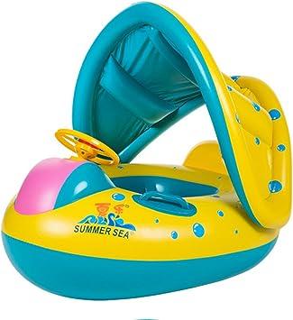 Amazon.com: TOAOB Flotador de piscina para bebés con toldo ...