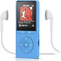 Update Version, AGPTEK A20 8GB 70 Hours Music Playing Player, 1.8' Color Screen with Independent Lock Button,Blue