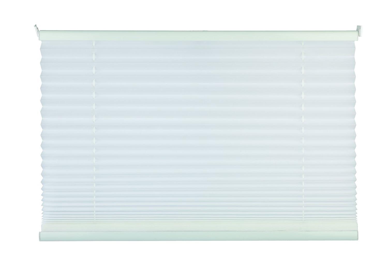 Mydeco Plissee weiß ohne Bohren 80 cm breit, verspannt, Jalousie Rollo -Komplettset- mit doppelten Stoff (Wabe), 80x130 cm