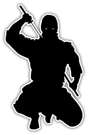 Amazon.com: Ninja Warrior Samurai Japón Ninja Lucha Silueta ...