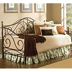 Largo Furniture Boston Metal Daybed in Caramel with Gold Accents - Daybed Only