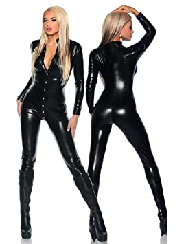 26ce4b820f Asver Both Front And Back Open Chest Siamese Leather Pants Sexy ...