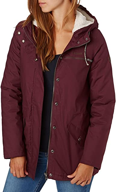 G.S.M. Europe - Billabong FACIL ITI Chaqueta, Mujer, Burdeos, Small