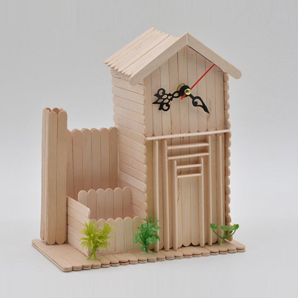 Handicraft L x W: 6.5 x 1 cm wonderfulwu 50 PCS Wooden Food-Grade Popsicle Sticks for Making Your Popsicle