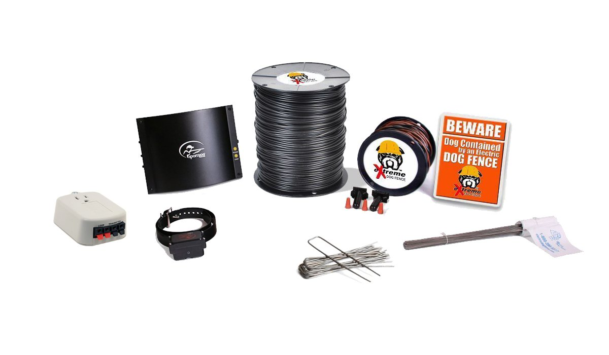 SportDOG In-Ground Dog Fence Containment System Professional Grade eXtreme Package - For 1 Dog and 4 to 6 Acre Coverage Area (2500')