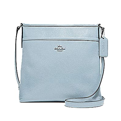 5d4a4c27c951 COACH FILE CROSSBODY SILVER PALE BLUE  Handbags  Amazon.com