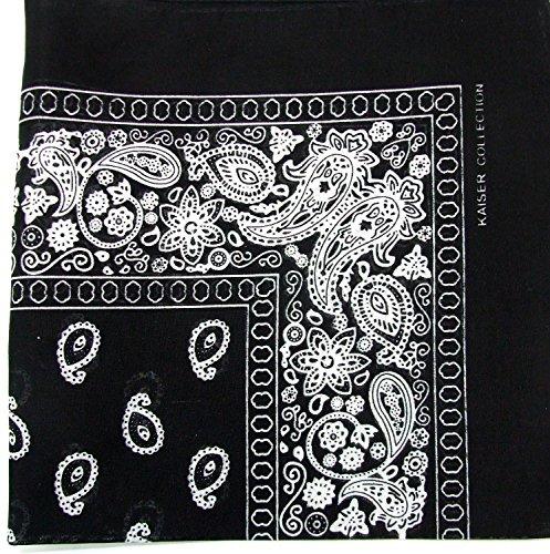 Black Bandanna (Novelty Bandanas Paisley Cotton Bandanas (Black, 22 X 22 in))