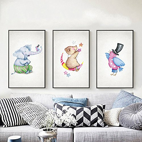 Decorative painting Living Room Sofa Background Wall Photo Wall Painting Bedroom Restaurant Painting Modern Simple Creative Nordic Style ( PATTERN : D , Size : 70100cm ) by LongYu (Image #2)