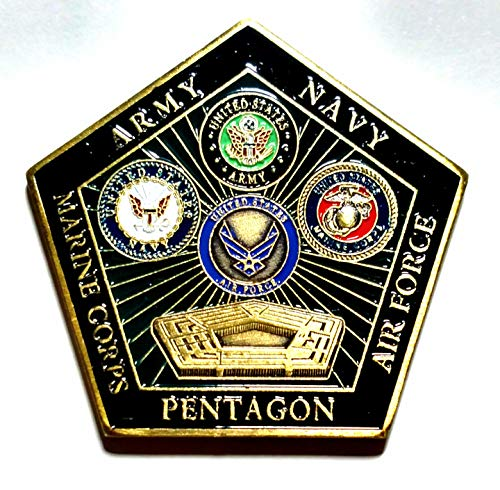 Pentagon Department of Defense Military Family Colorized Challenge Art -
