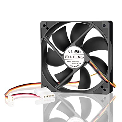 amazon com eluteng 4 pin radiator fan 120mm 3 pin pc cooling fan