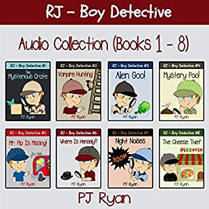 RJ - Boy Detective Books 1-8: Fun Short Story Mysteries Audiobook