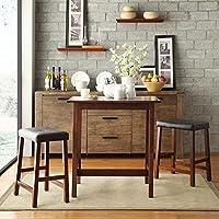 Metro Shop TRIBECCA HOME Nova Cherry 3-piece Kitchen Counter Height Dining Set
