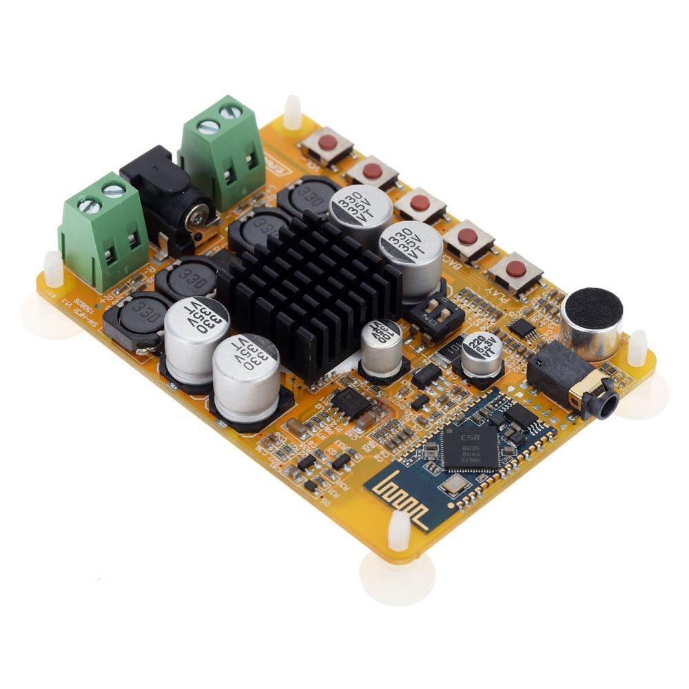 Kkmoon 2 Kanal Audio Receiver Stereo Digital Power Kit Amplifier 100 Watt Mono Dc 12volt Ic Tda 2003 Elektronik