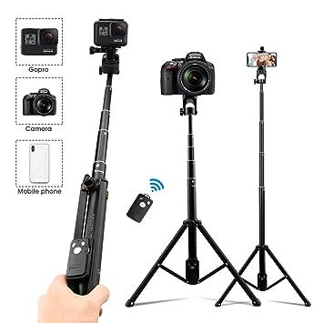 AFAITH Trípode teléfono cámara 3 en 1, Mini Selfie Stick Trípode ...