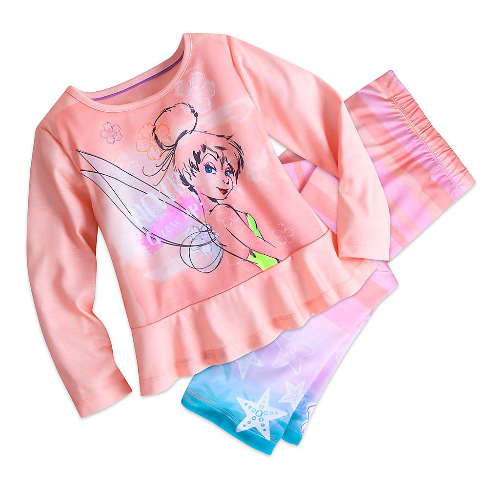 Disney Tinker Bell Sleep Set Pajamas for Girls Size 3