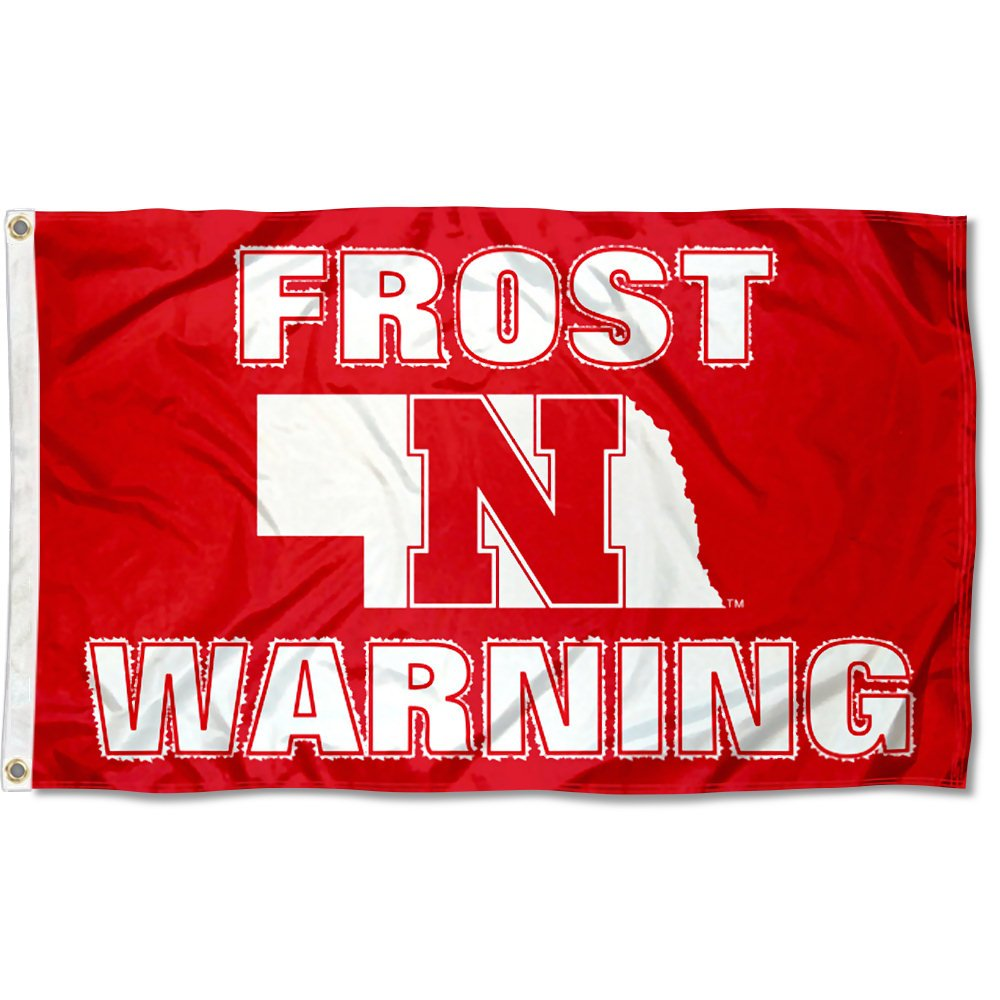 College Flags and Banners Co Nebraska Cornhuskers Frost Warning Flag