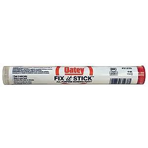 Oatey 31270 Fix-It Multi-Purpose Epoxy Putty, 4 Oz, Box, Beige, Sulfurous, Solid, White