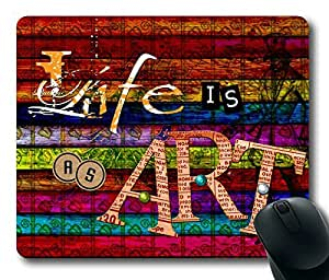 Life Is Art Masterpiece Limited Design Oblong Mouse Pad by Cases & Mousepads