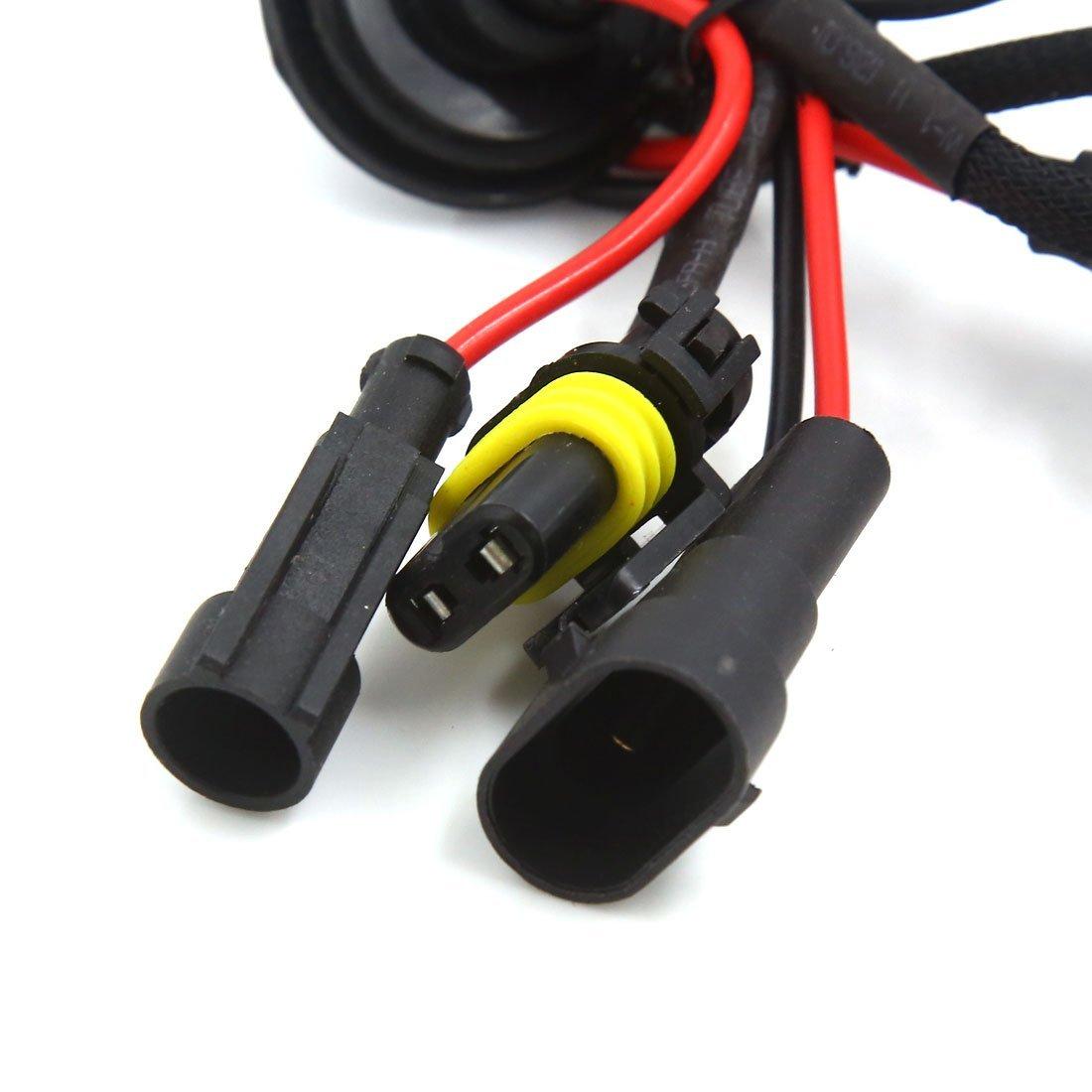 DealMux 2 Pcs DC 12V 4300K ??9006 HID Xenon Replacement Bulb Lâmpada Luz para Auto Car