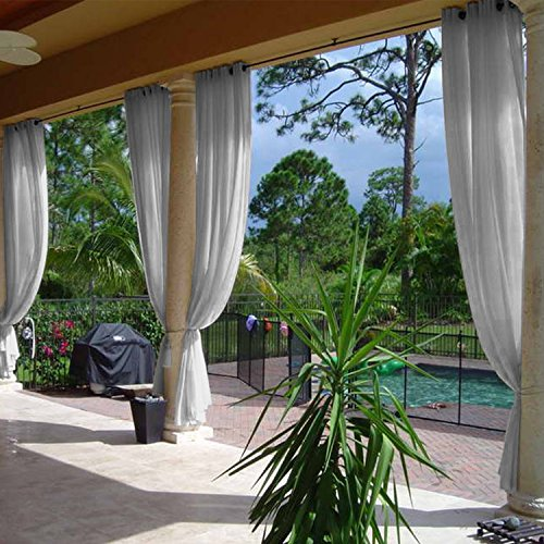 """Cololeaf Semi-Sheer Curtains Indoor Outdoor for Living Room 