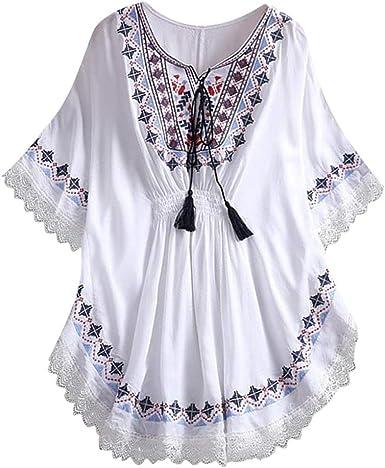 Camisas Mujer Sexy De Talla Grande Mujer Verano Tops Mujer Primavera Camisetas Mujer Corta Con Bolsillo Vestido Mini Camisa Tallas Grandes Blusas Para Mujer Elegantes Blanco Tamano Libre Amazon Es Ropa Y Accesorios
