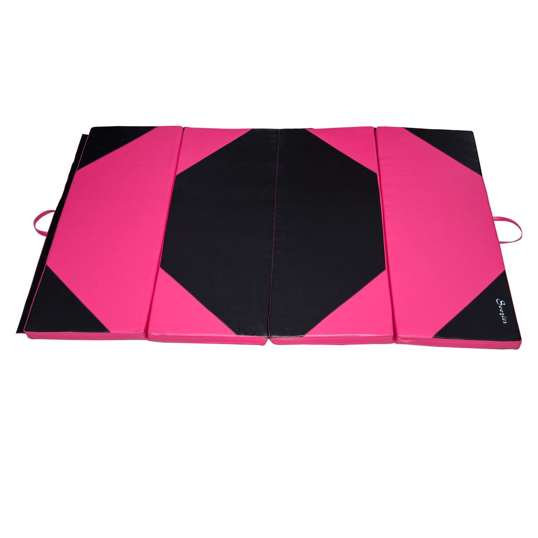 Soozier PU Leather Gymnastics Tumbling/Martial Arts Folding Mat