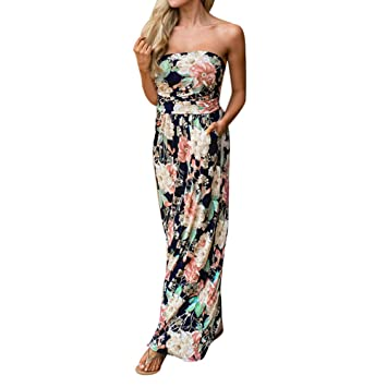 Amazon.com  Clearance! ZOMUSA Womens Holiday Floral Maxi Long Dress ... 791a52de0