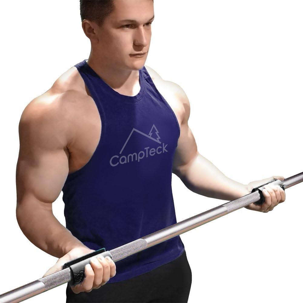 Avant-Bras et la Force de Pr/éhension Biceps CampTeck Bar Grip Silicone /Épais Barre /& Halt/ères Musculation Augmentez la Taille des Bras Lot de 2 Triceps