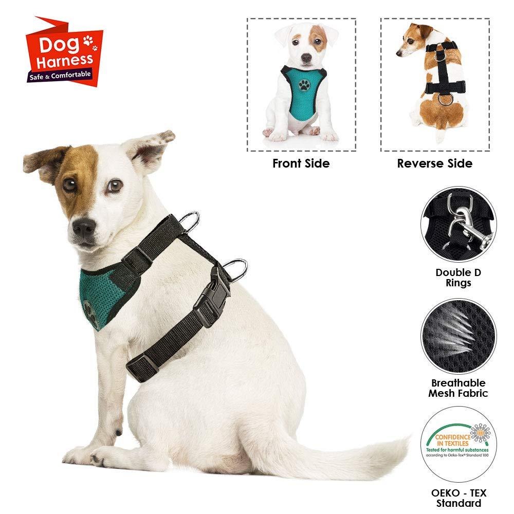 Arn/és de Chaleco para Mascotas para Perros Seguridad en el Coche Cuello Ajustable y Correa para el Pecho SlowTon Arn/és para autom/óvil Sin cintur/ón de Seguridad