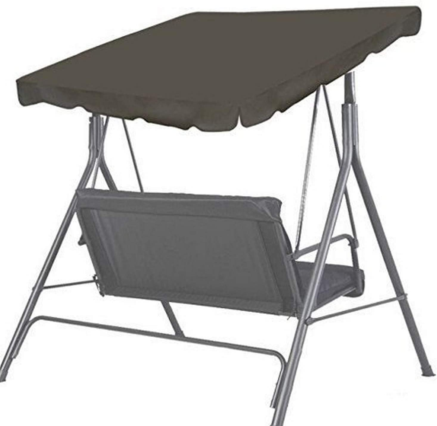 "BenefitUSA Patio Outdoor 73""x52"" Swing Canopy Replacement Porch Top Cover Seat Furniture (Taupe)"