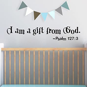 Amazoncom Flywalld Wall Decal Baby Boy Room I Am A Gift From God