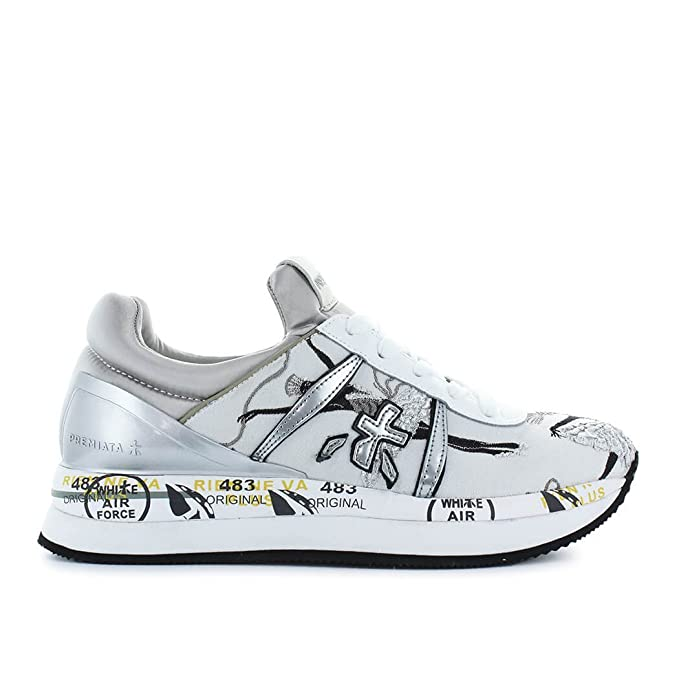 a098c60a5e PREMIATA Scarpe da Donna Sneaker Liz 2998 Bianco Argento Primavera ...