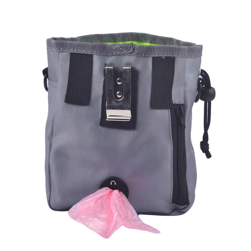 Kasuga Dog treat pouch Bag Holder with Secure Closure Waste Bag Dispenser (grey)